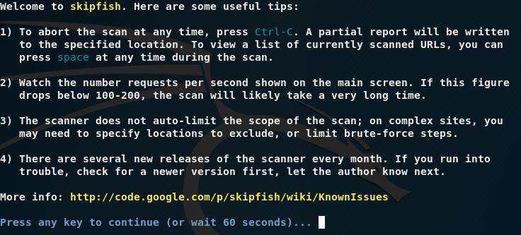 Auditando aplicaciones web con SkipFish
